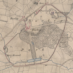 Detail from OSD 267 pt.1 (Oakham, Boyce), detail showing Burley Park.